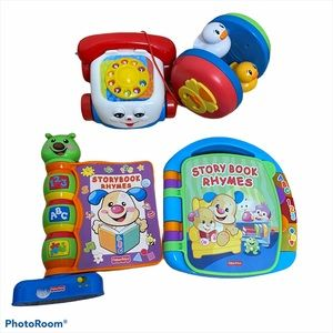 Fisher Price Kids Toy Lot Phone Storybook Rhymes